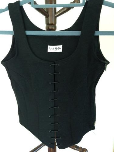 corset negro vía moda