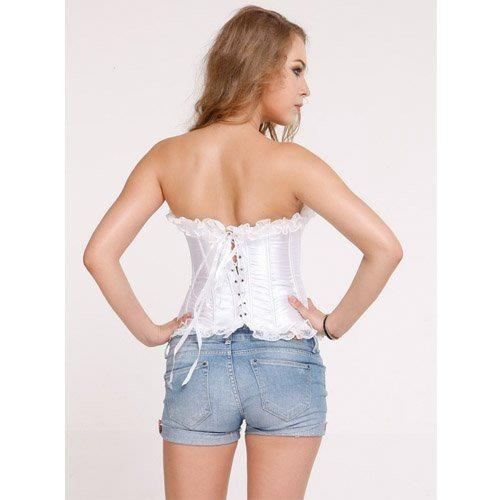 corset noiva branco com renda pronta entrega tamanho m