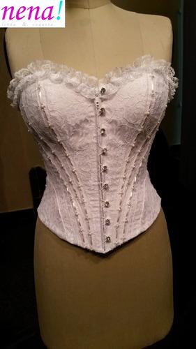 corset para vestido de 15 años o novia bordado a mano