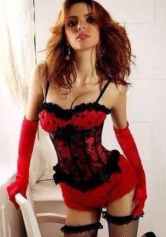 corset rojo lunares talla 40 xxl fiesta edecan sexy straples