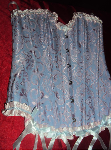 corset rosa lilás e azul pronta entrega tamanho p