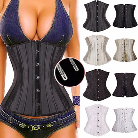 1dbfe5b114dbd5 Corset Tight Lacing 28 Barbatanas Aço Afina Cintura !!