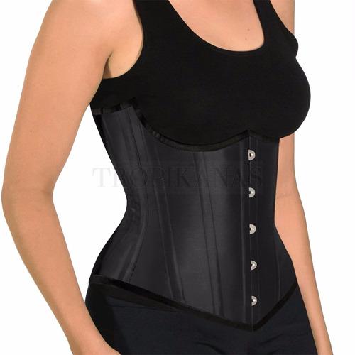 corset tight lacing underbust costas altas busk aço corselet