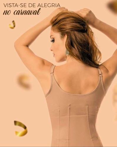 corset yoga com barbatanas e busto pré- moldado 3076s