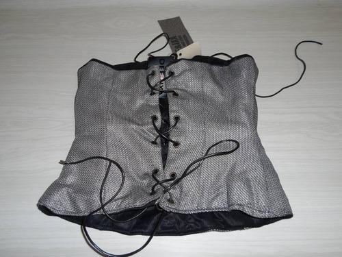 corsette nuevo gris plata