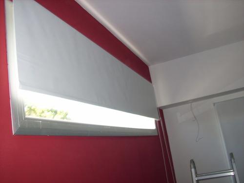 cort roller blak out blanco promo 98% bloqueo del sol!instal