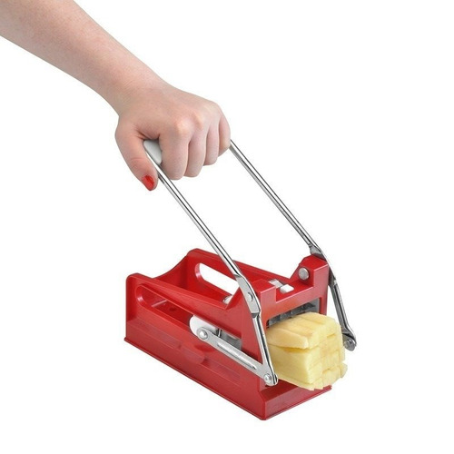 corta papas fritas baston economico plastica 2 cuchillas
