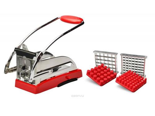corta papas fritas baston hogareño con 2 medidas acero