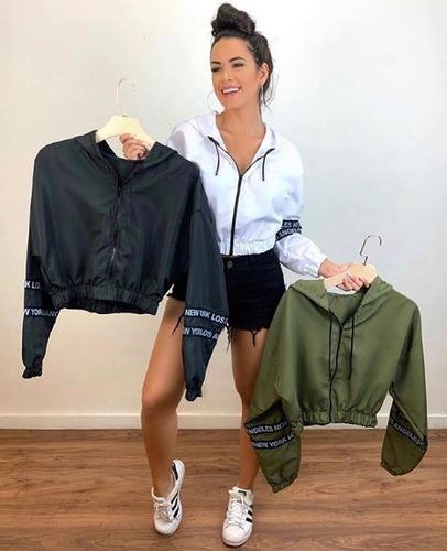 corta vento blusa blusinha jaqueta casaco curta  lançamento roupa feminina