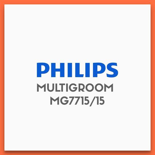 cortabarba multigroom philips mg7715/15 - resistente al agua