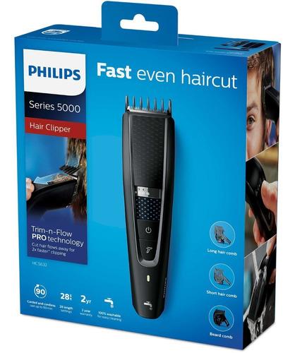 cortacabello philips hc5632/15 uso con y sin cable 0,5-28 mm