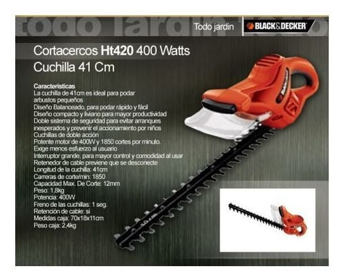 cortacerco 400w black + decker