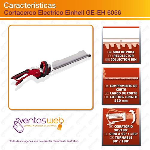 cortacerco electrico podadora einhell 600 w 52 cm filo laser