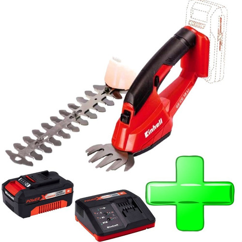 cortacerco podador + tijera inalambr + kit bateria 2 amp 18v