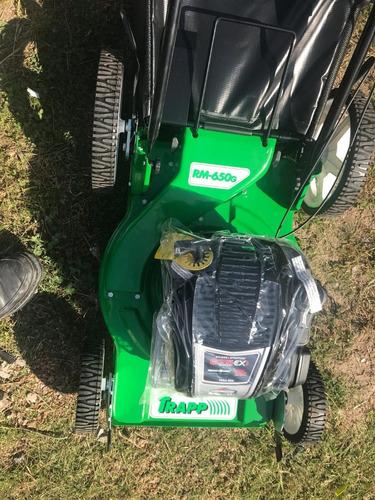 cortacesped trapp 4 tiempos rm-650g 6 hp c/recolector