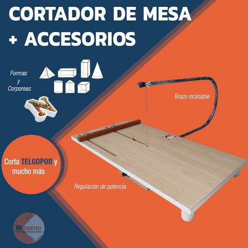 cortador calador  de telgopor + accesorios  micorthi