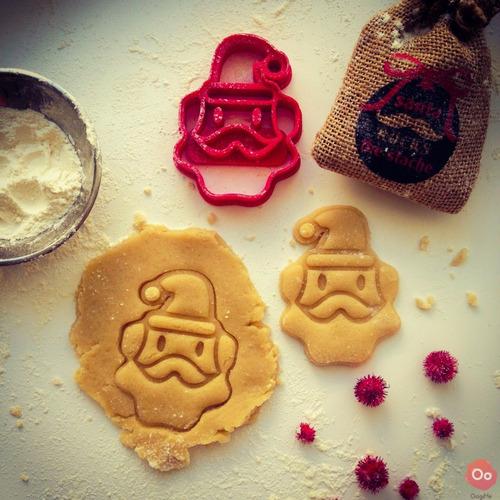 cortador de biscoito biscuí massa papai noel natal