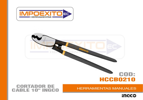 cortador de cable 10  ingco impoexito herramientas