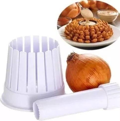 cortador de cebola gigante - onion blossom maker