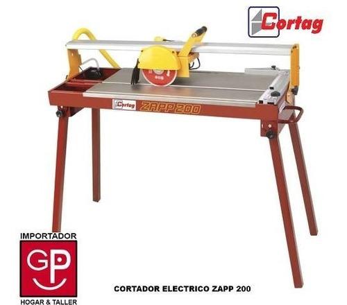 cortador de cerámicos eléctrico zapp 200 cortag