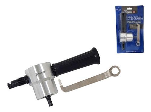 cortador de chapa sem estojo para furadeira manual eletrica