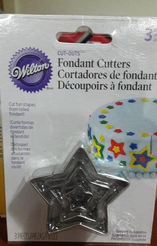 cortador de fondant / galletas tipo estrella -wilton