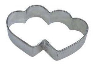 cortador de galletas doble corazon de rym de 3.5  en acero e