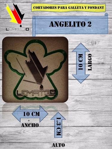 cortador de galletas y fondant - angelito 2