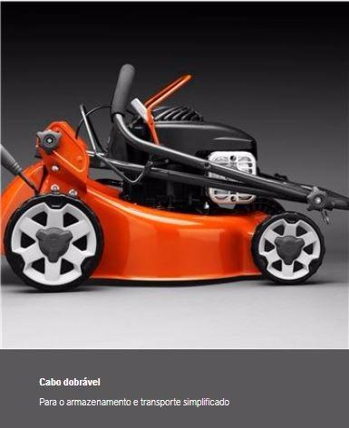 cortador de grama gasolina husqvarna lc140 com recolhedor