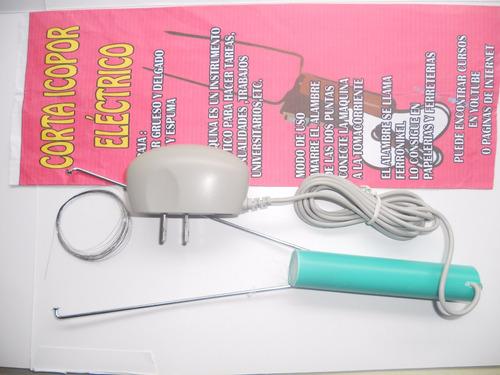 cortador de icopor  para manualidades con adaptador ac