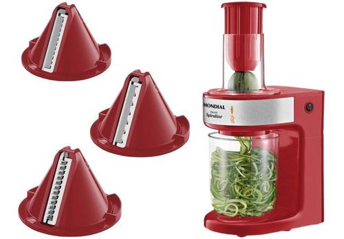 cortador de legumes mondial spiralizer cs-02 vermelho