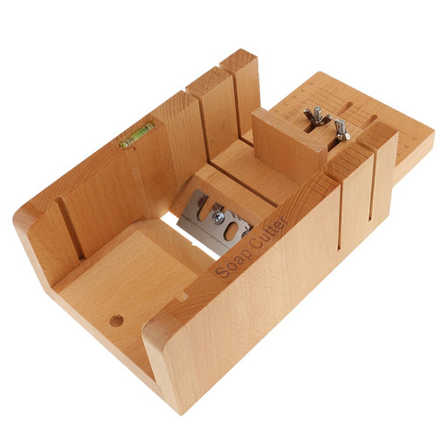 cortador de pan de molde de jabón de madera ajustable,