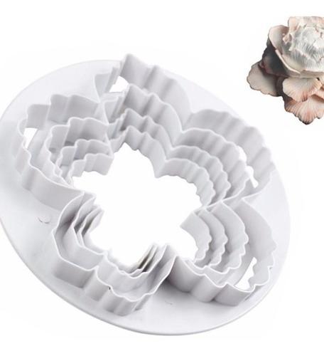 cortador de peônia kit 4 peças pasta de açúcar ou biscuit