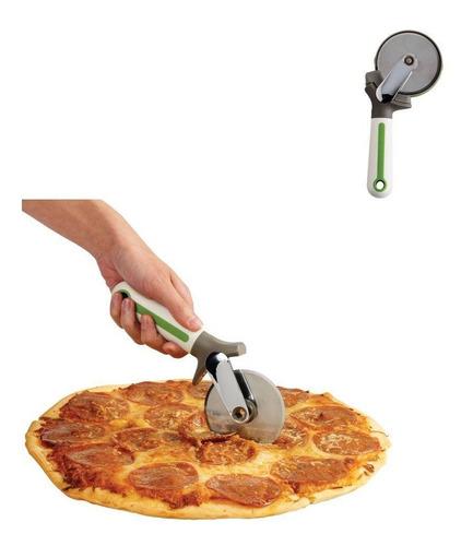 cortador de pizza com afiador em aço inox - chef´n prana