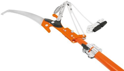 cortador de ramas altas, mango telescópico fibra de vidrio t