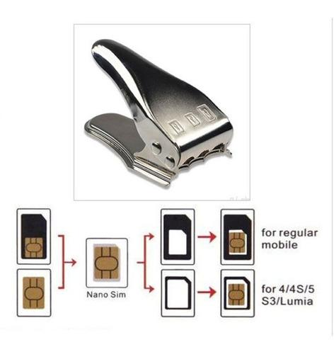 cortador de sim / micro sim / nano sim con adaptadores (16)