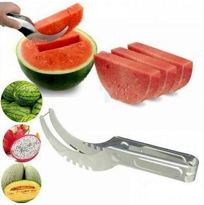 cortador fatiador de melancia frutas aço inox