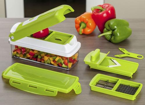 cortador fatiador legumes frutas e verduras nicer dicer plus