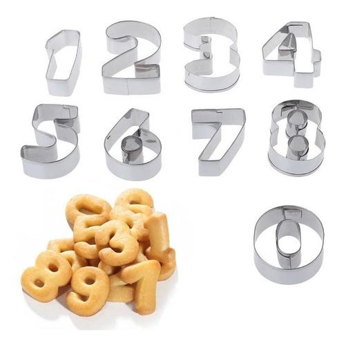cortador galletas numeros molde fondant
