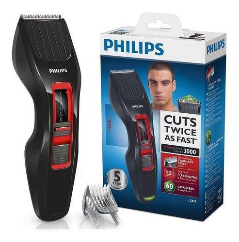 cortador inalámbrico philips hc3420/15 de cabello serie 3000