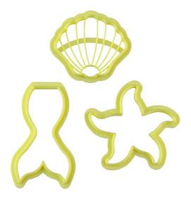 8584c2eaf1e4ce Cortador Kit Sereia Biscoito Biscuit Com 3 Peças Blue Star