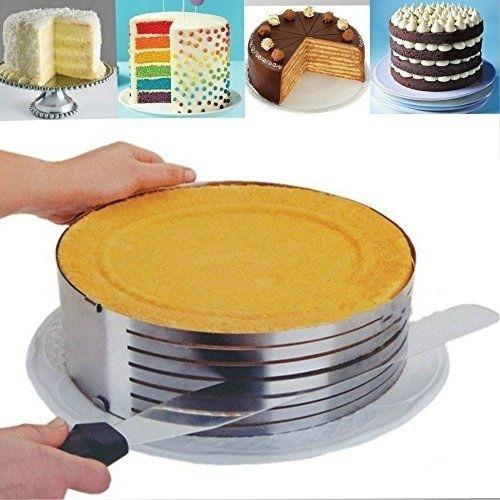 cortador nivelador de bolo forma aro anel fatiador 7 camadas