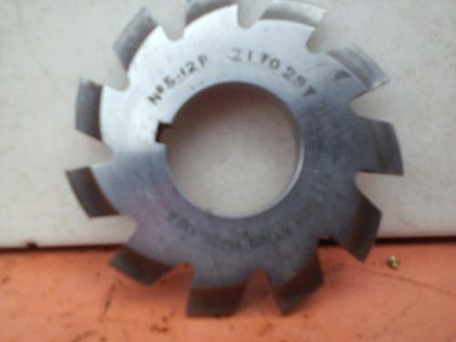 cortador para engranes paso diametral 12,#5,21-25t,14 1/2°
