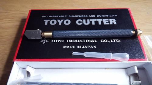 cortador para vidrio tc17 autolubricante toyo
