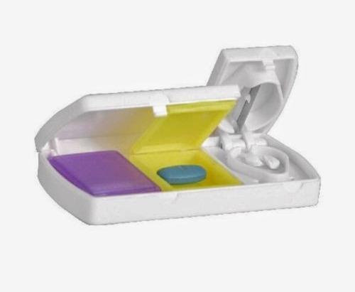 cortador partidor divisor de pastillas dos en uno pastillero