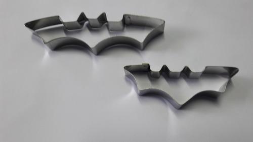 cortador personagem batman (2 peças - grande e pequeno)