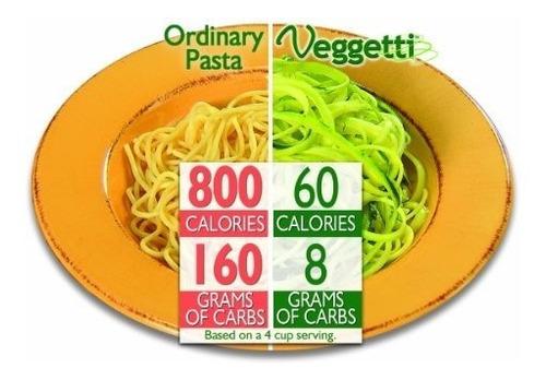cortador verduras en espiral veggetti hace pasta vegetales p