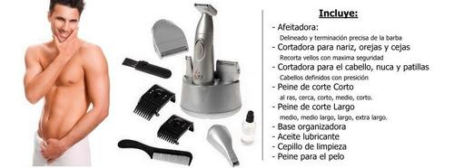 cortadora afeitadora trimmer multiuso gama 6en1 a pila