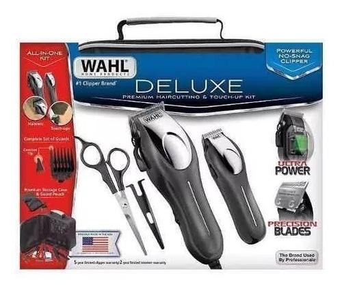 cortadora de cabello y retocadora wahl deluxe + accesorios