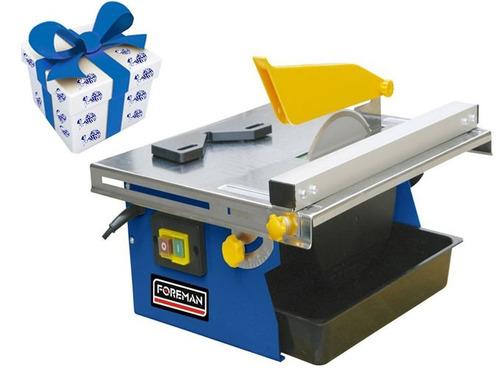 cortadora de ceramica de mesa 450w 180mm foreman + regalo !
